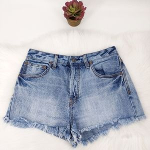 Free people cut off shorts high rise